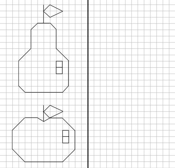 Открытки, рисунки по клеточкам легкие крутые карандашом