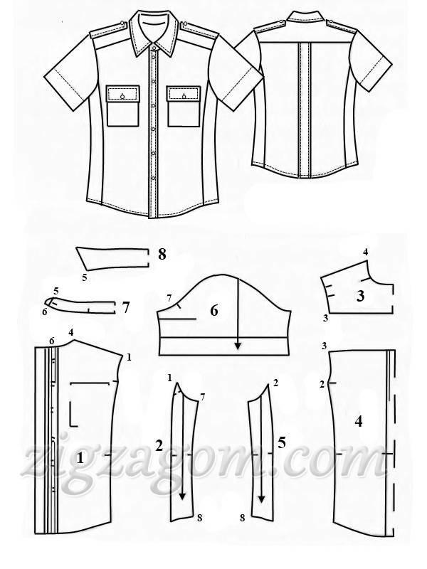 Что сделать из мужской рубашки выкройка