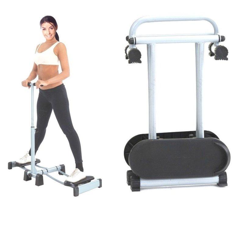 Тренажер для мышц ног с роликовыми платформами