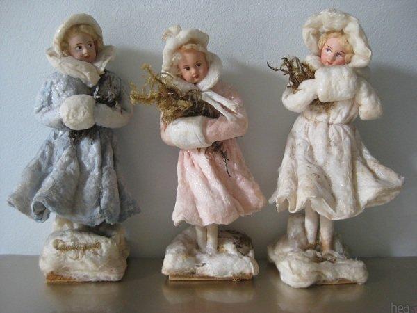 Елочные игрушки из ваты своими руками