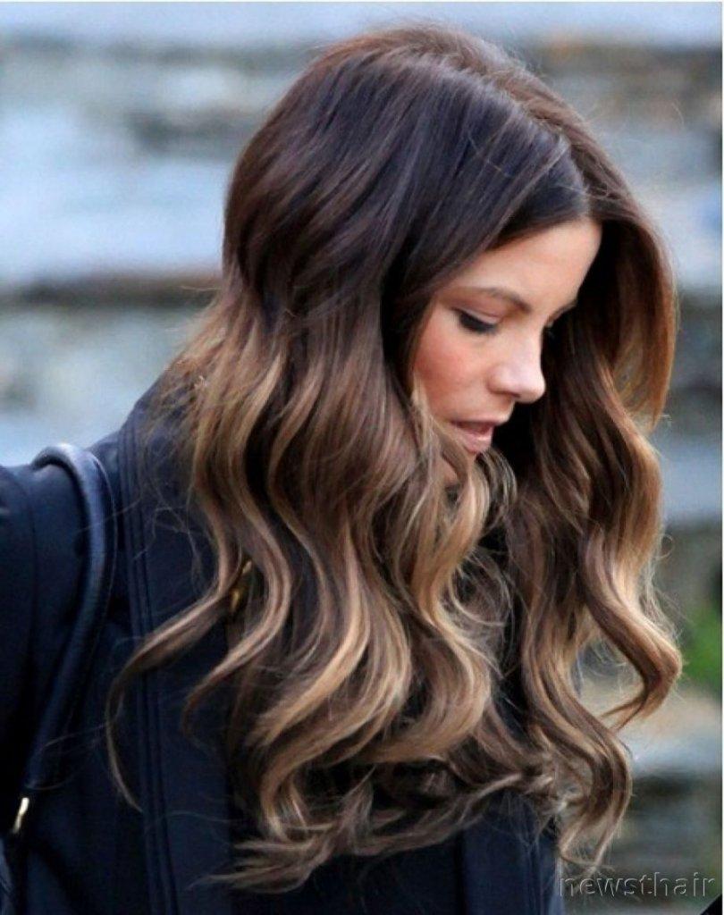 длинные волосы темные на шатуш фото