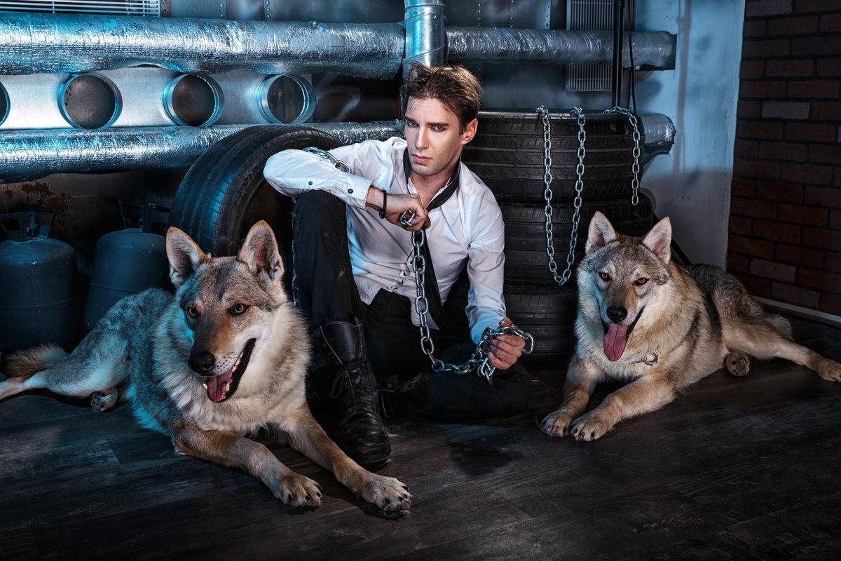 Картинки мужчины с волком