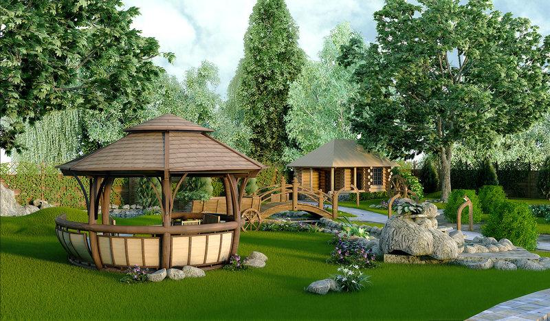 Гарденпарк предлагает лучший ландшафтный дизайн! Дизайн