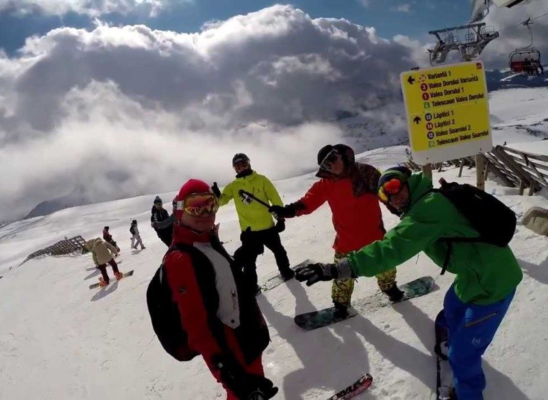 Лыжники на курорте Синая.