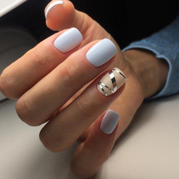 Гель Лак Коричневый На Ногтях Фото