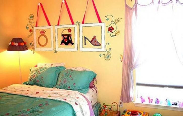 Декор детской комнаты для девочки своими руками