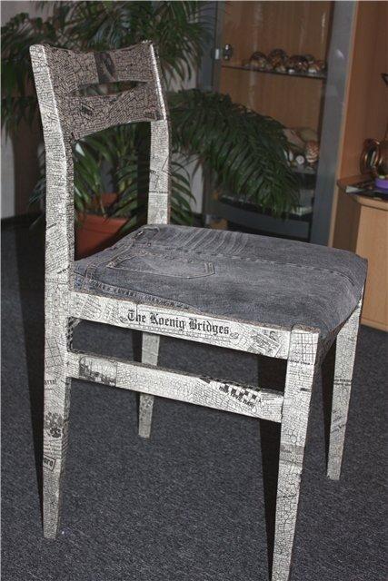 Техника декупаж стульев своими руками 186