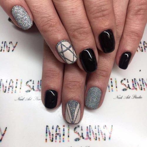 Шеллак фото дизайн на длинные ногти