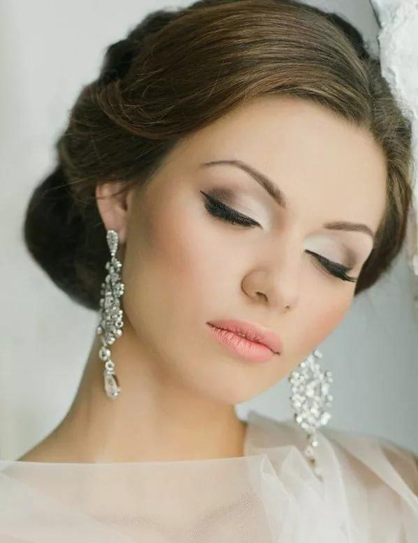 макияж невест с карими глазами фото