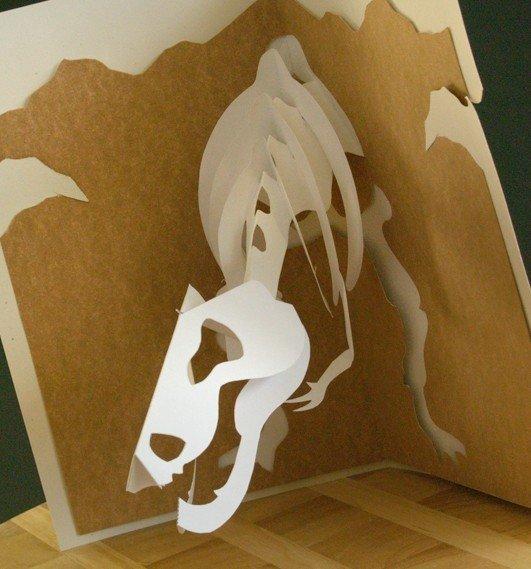 Открытка, объемные открытки динозавр