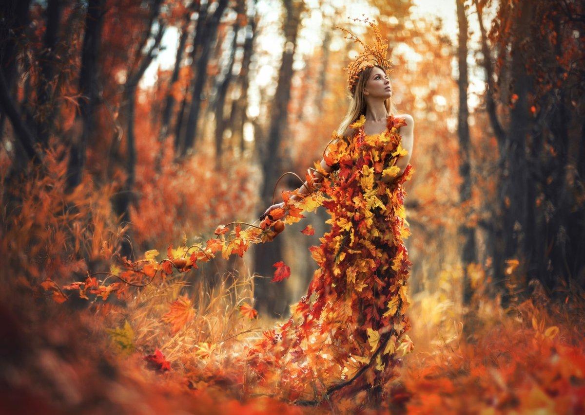 Картинки женщина-осень, выражающие
