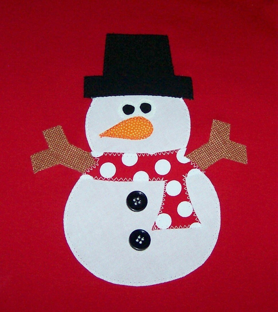 Картинки по аппликации снеговик