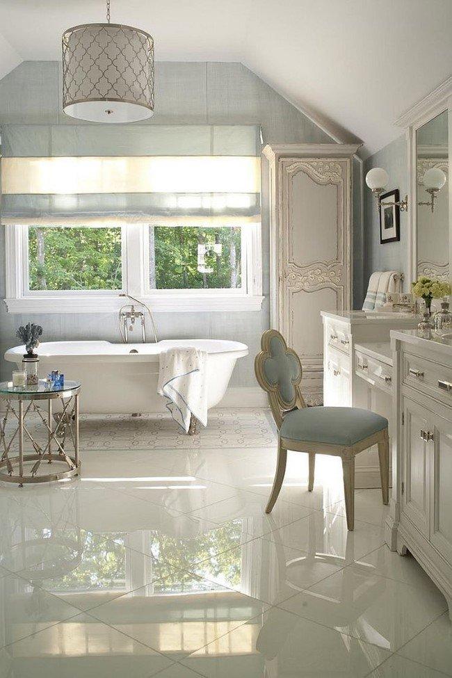 Красивая ванная комната в стиле шебби шик
