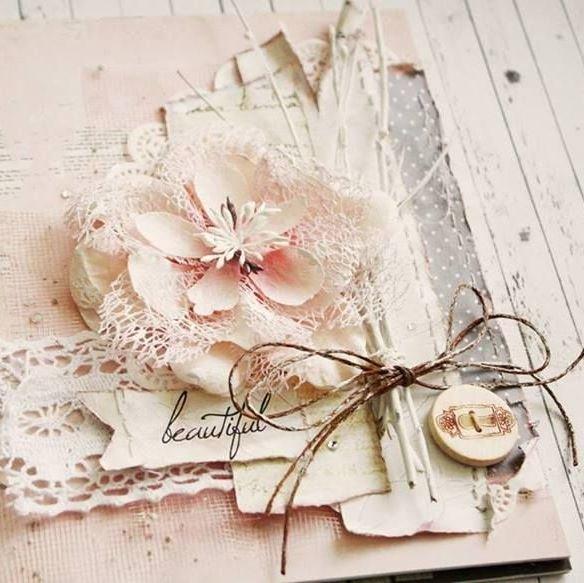Днем, открытка из ткани на свадьбу