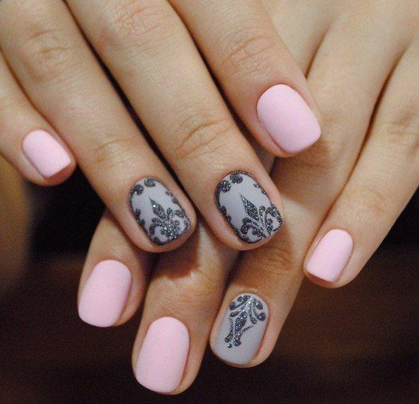 Дизайн ногтей гель-лаком 2018 (200 фото стильного маникюра) 95