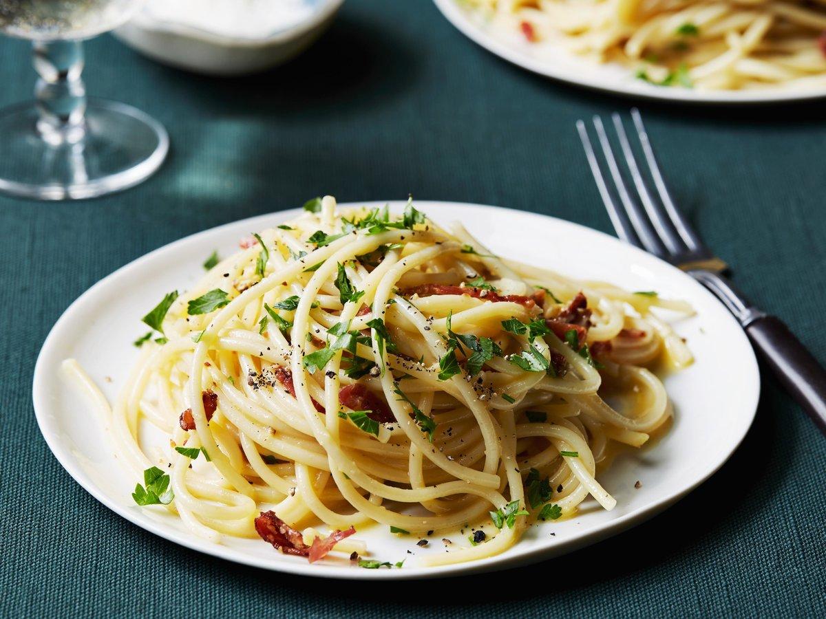 Открытка со спагетти, днем