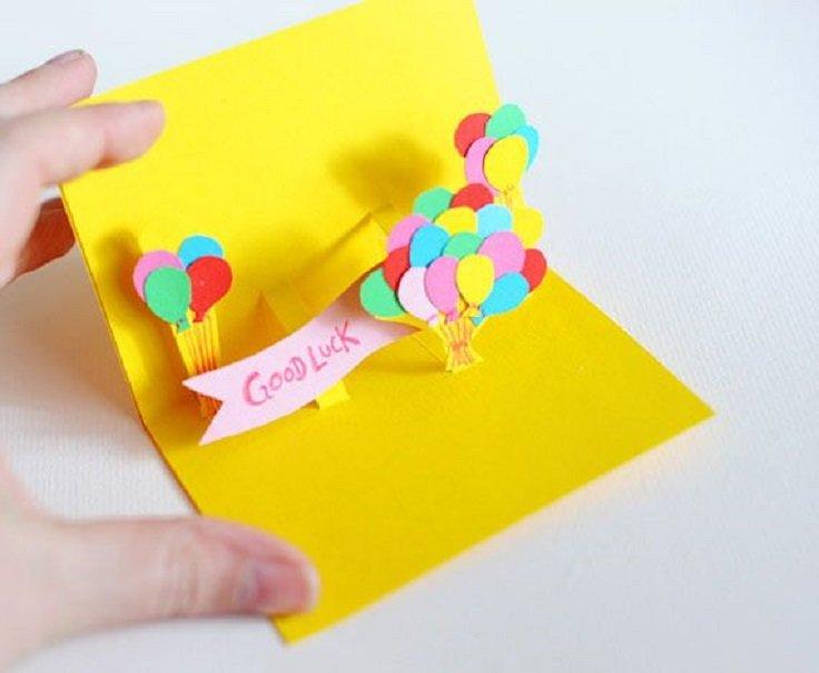 Как изготовить детскую открытку, бабушке