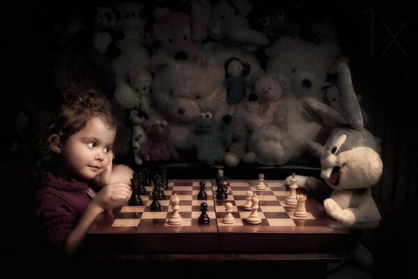 Игра в шахматы. Фотограф Билл Гекас.