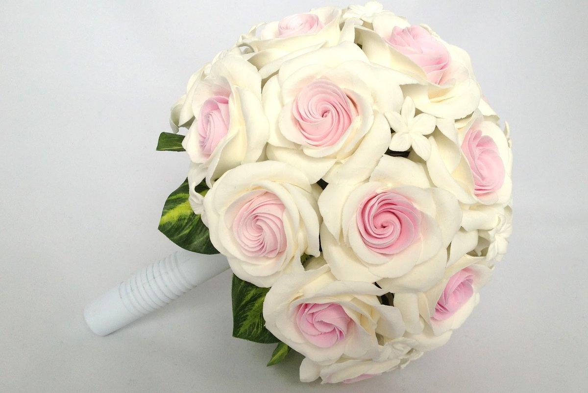 Большие букет для невесты своими руками из роз