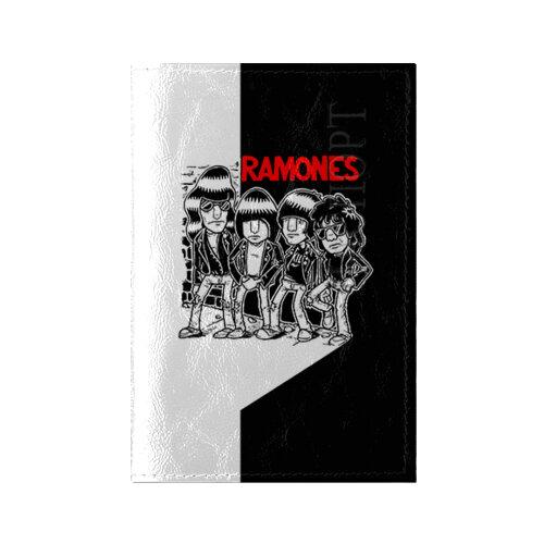 Обложка для паспорта глянцевая кожа Ramones 1