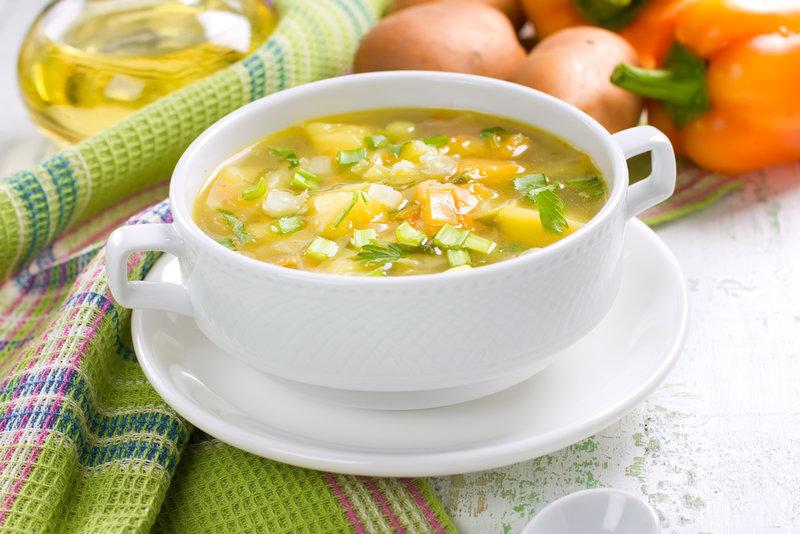 Весенний суп из овощей - Рецепты.
