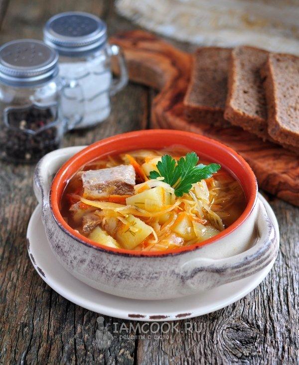 рецепт с ребрами и квашенной капусты