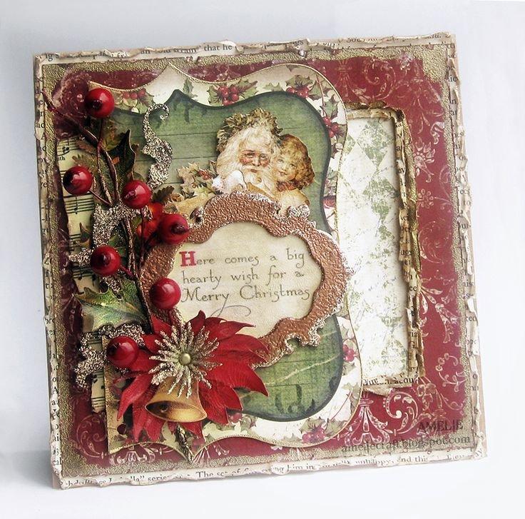 Новогодние открытки скрапбукинг винтаж, юбилеем лет женщине