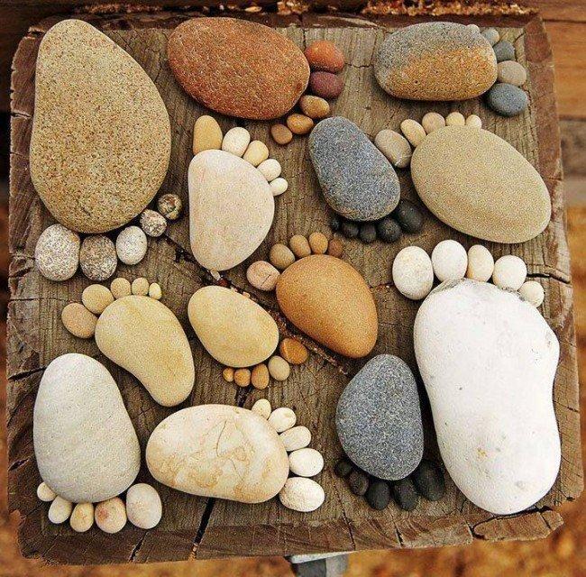 материалы, декорирование поделок морскими камушками легкое, при этом