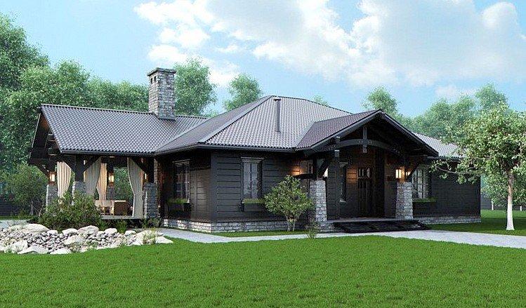 Дизайн сайдинга фото одноэтажные дома