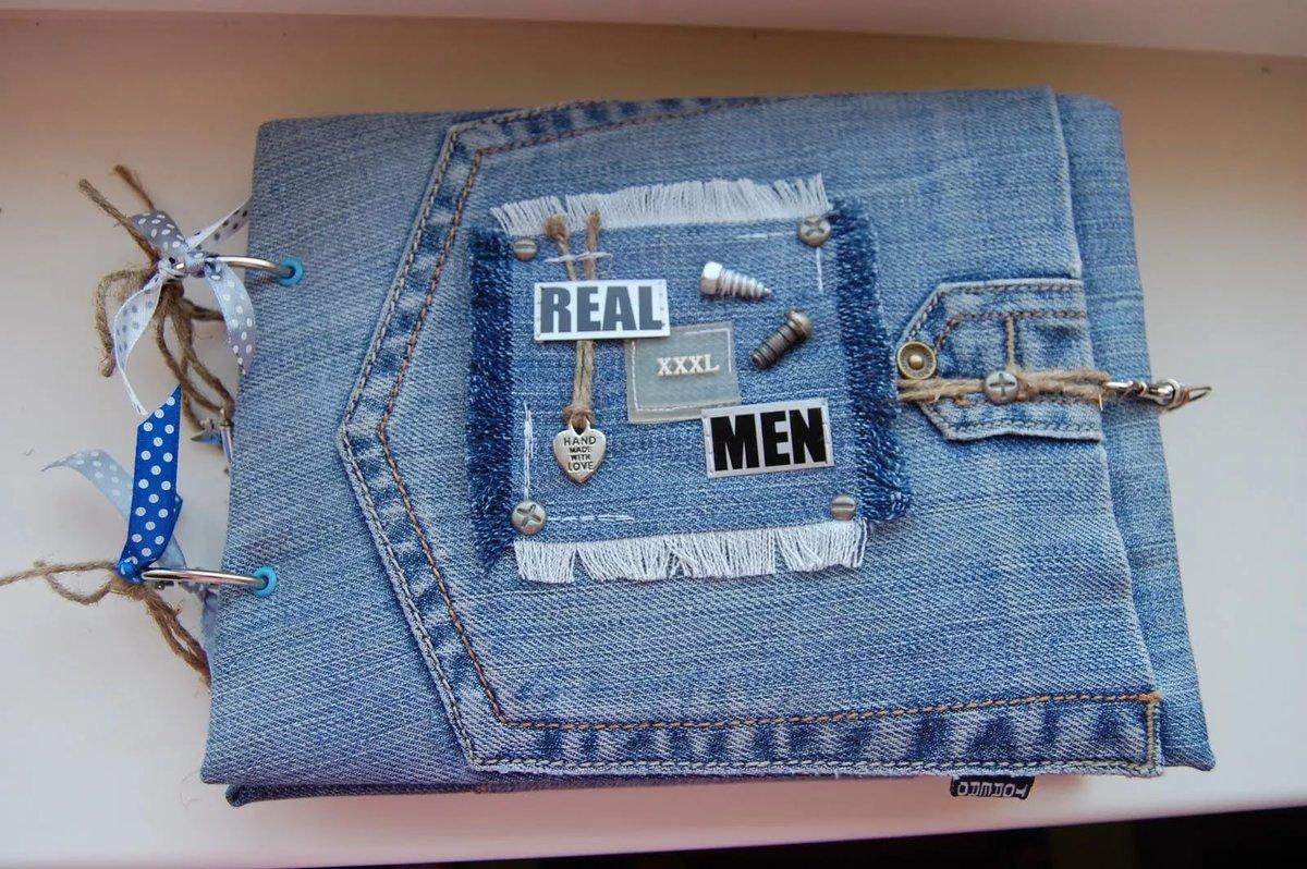 Открытка из джинса