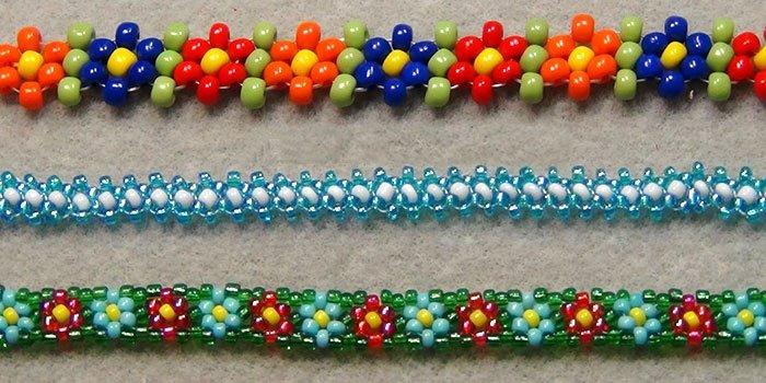 Пошаговые фото плетения браслетов из бисера