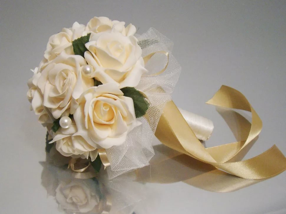 Свадебный букет дублер из фоамирана, композиции дню