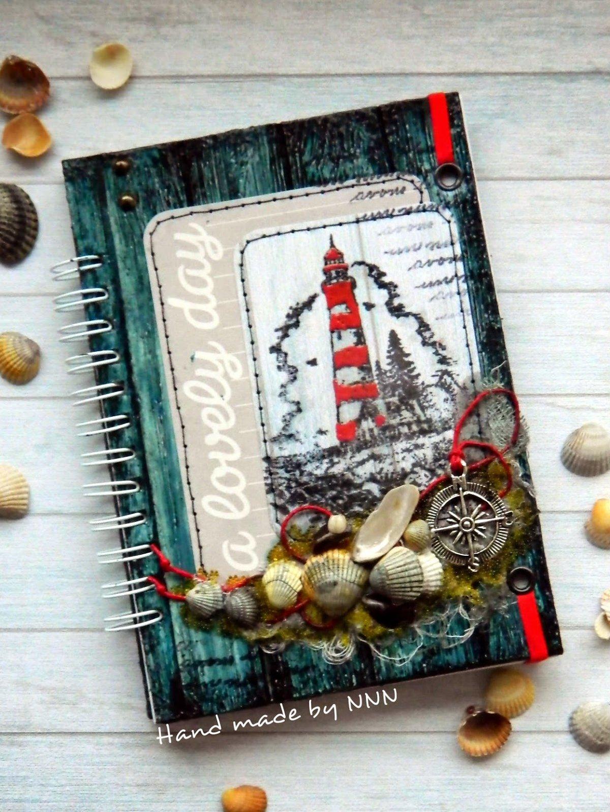 Открытки днем, скрапбукинг открытки с маяком