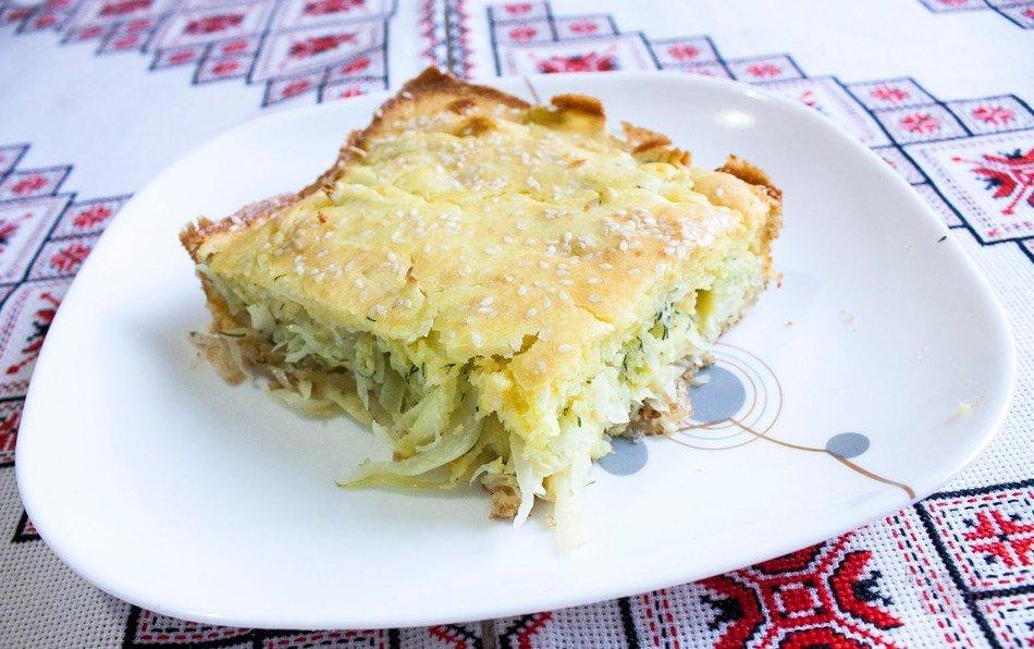 пирог на кефире с капустой диетический