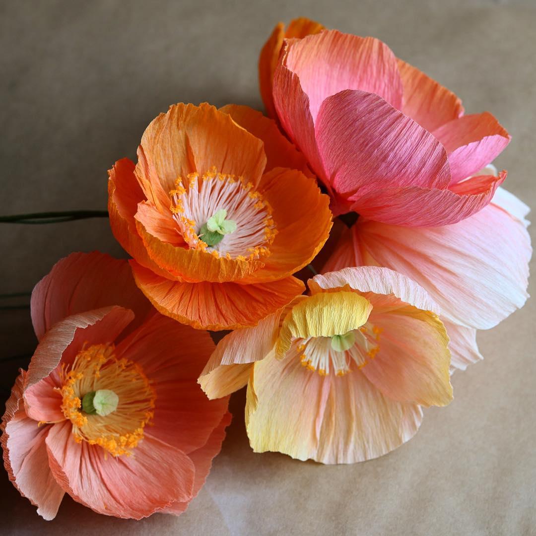 «Яркие бумажные цветы из гофрированной бумаги» — карточка ...