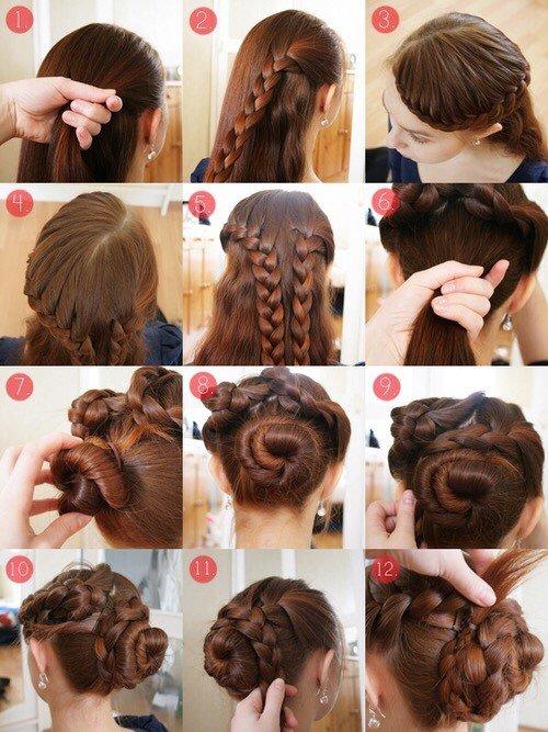 Вечерние прически на средний волос для девушек