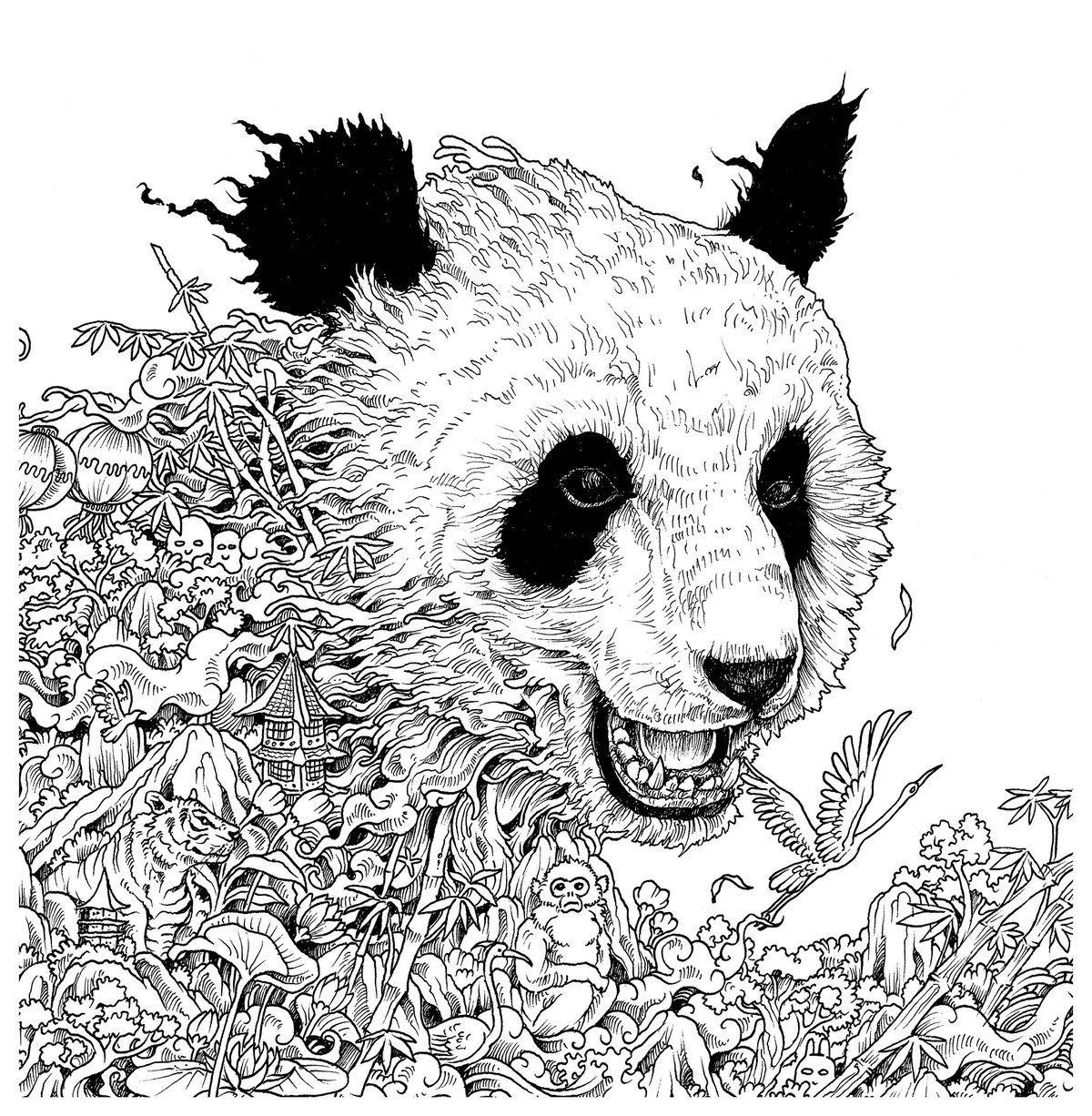 картинки антистресс панда распечатать на весь лист благодаря любителям
