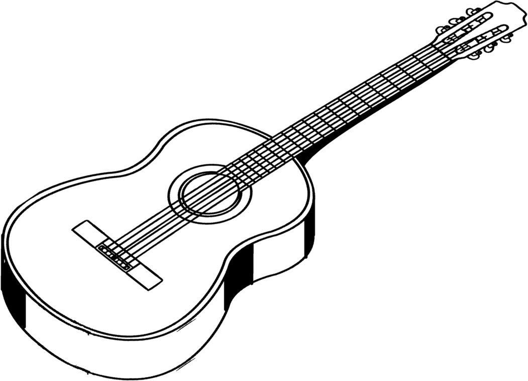 Картинки гитара для детей нарисованные