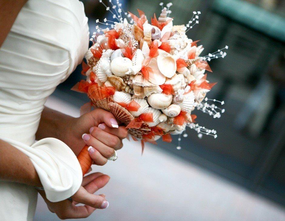 Цветов, креативный букет невесты фото