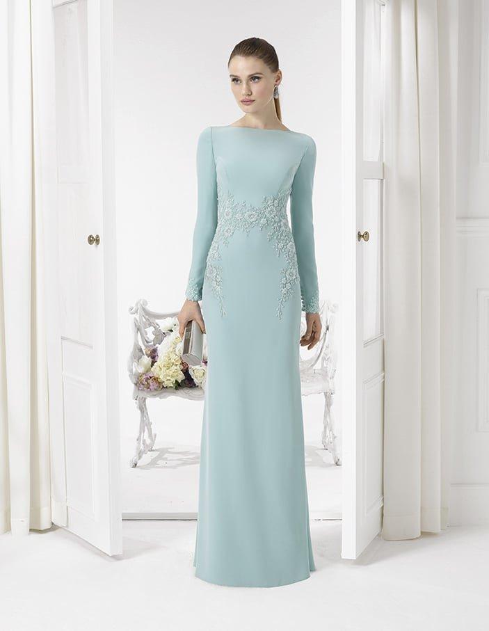 b4d51195d89 Закрытое вечернее платье голубого цвета
