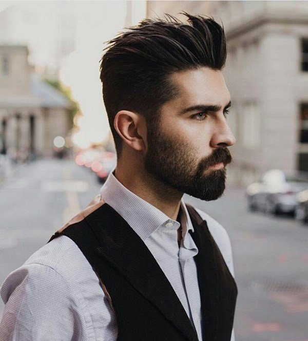 стрижки для мужчин средние волосы фото