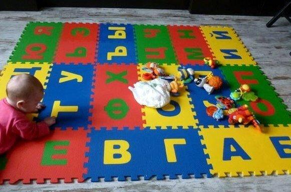 детский коврик пазл