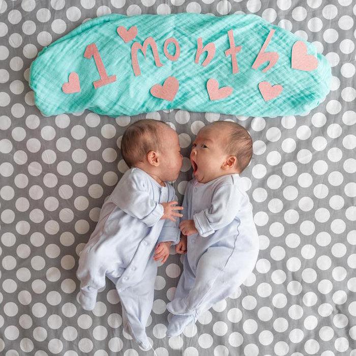 Привет кронштадта, открытка с 9 месяцами двойняшкам