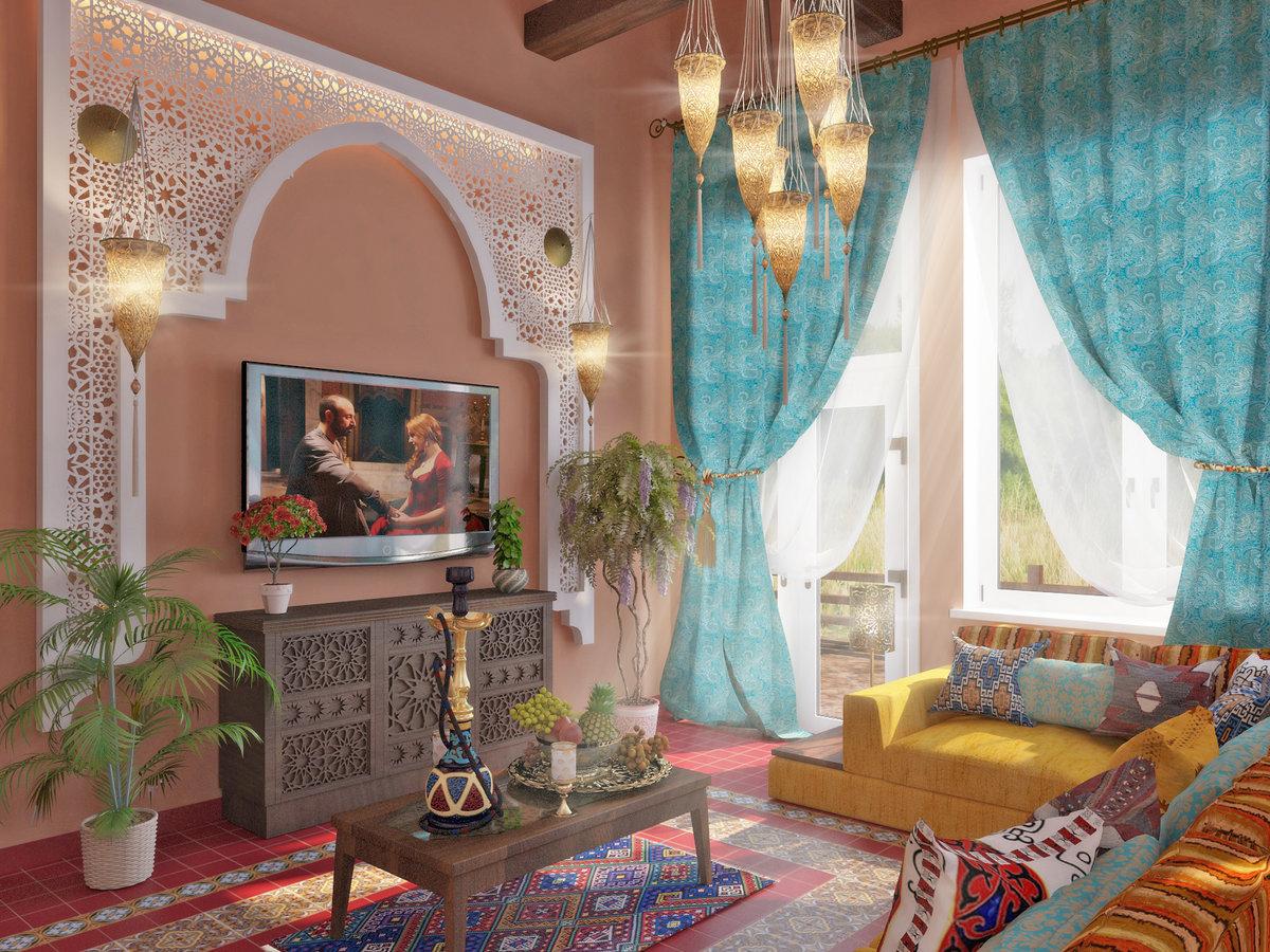 дизайн комнаты в турецком стиле фото