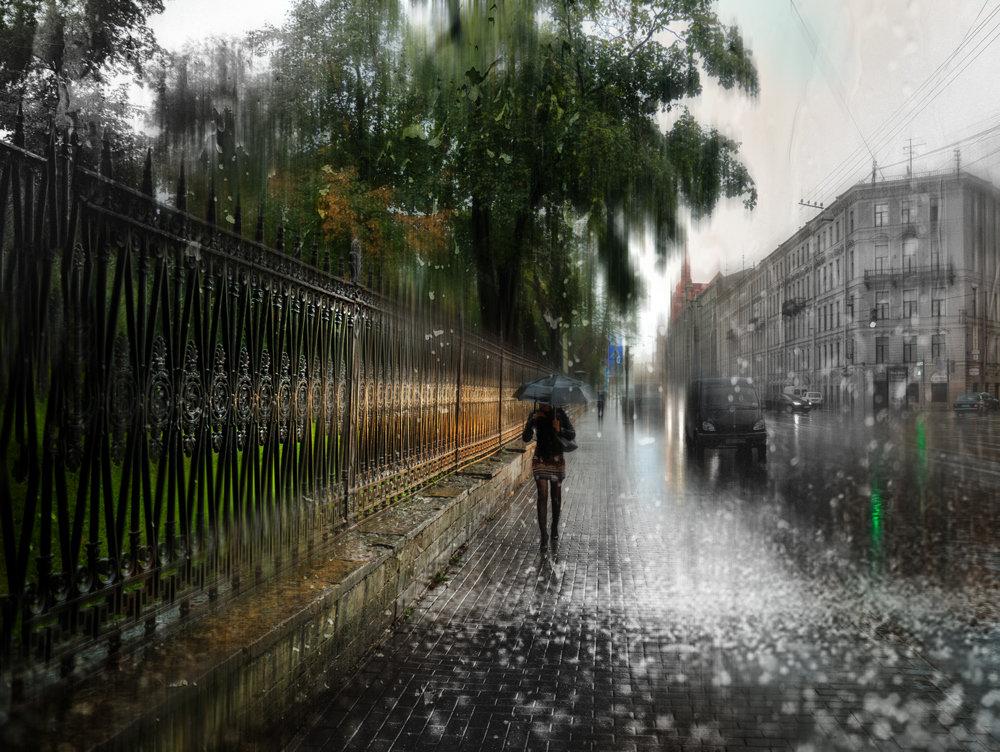 Картинка, картинки дождь в городе летом