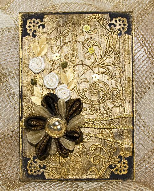 Золотая открытка