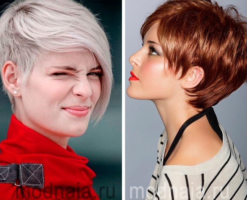 Фото модных коротких причёсок
