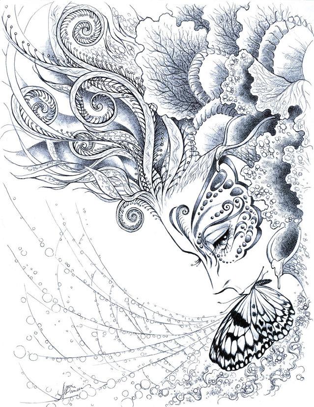 Картинка с узорами красивыми и легким, надписью