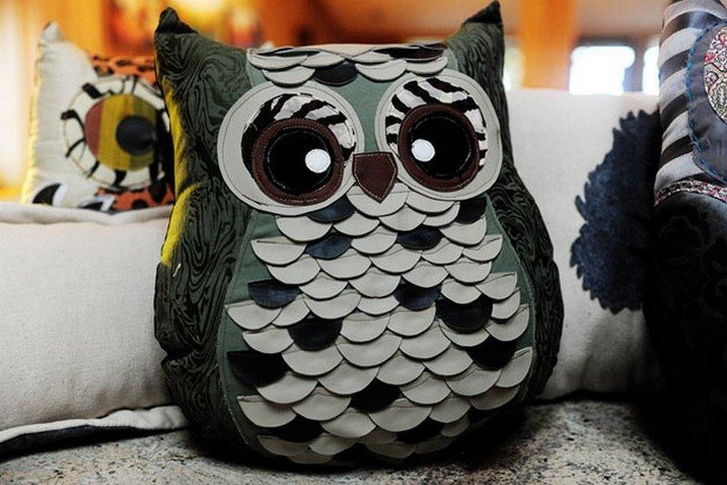 декоративная подушка сова своими руками мастер класс