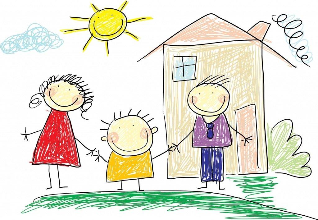 Февраля мужу, картинки для семьи нарисованные